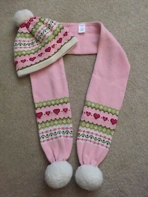 """Lot of 2 Gymboree """"Gingerbread Girl"""" Cozy Hat - Size 8+ and Scarf - One Size"""