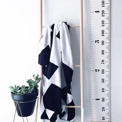 AU Kids Children Growth Height Wall Chart Hanging Ruler Home Room Decoration