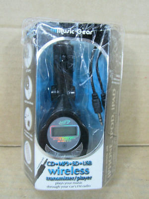 Music Gear IM513 Wireless Transmitter w/ Remote - For CD, MP3, SD & USB