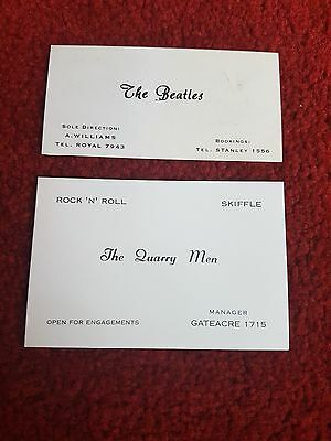 The Beatles. 2 Business Cards Found In A Box In Garage