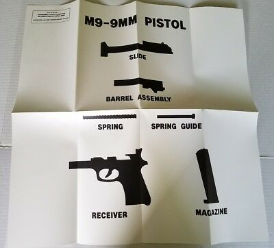 5X ARMY GRAPHIC TRAINING AIDS SET REAL POSTER MK-19 M-4 Carbine .50 Cal M240B M9