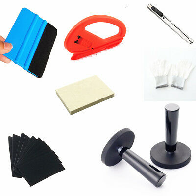 3M wool felt squeegee Glove Magnet Vinyl Wrap Scraper Car Wrapping Tools Kit 18