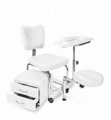 Pedicure Manicure Chair Station with Storage