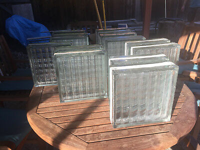 "Reclaimed Vintage 1940s Owens-Illinois Glass Block  (11 5/8"" x 11 5/8"" x 3 7/8"")"