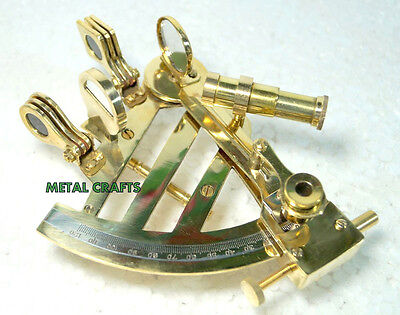 Antique Brass Nautical Heavy Bronze Sextant Ship Navigation Gps Systems Sextant