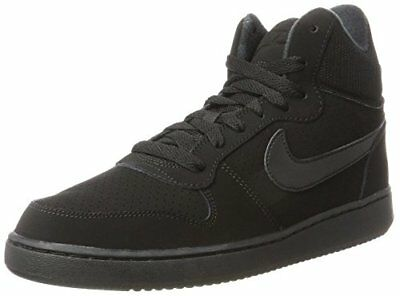TG. 405 EU Nike Court Borough Mid Sneaker Donna Nero Black/Black W0h