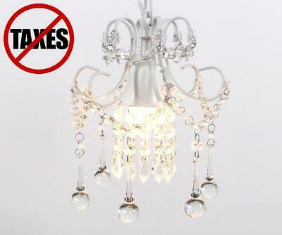 Chandelier Mini Vintage Style Lamp French Brass Crystals Ceiling Crystal S Room