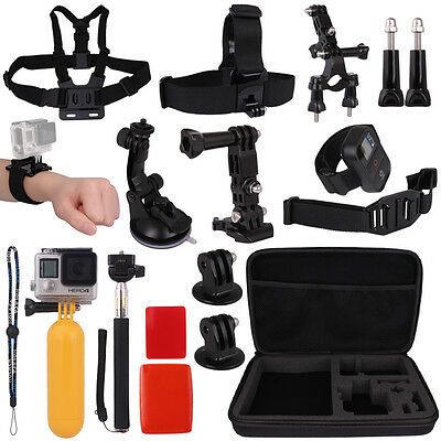 Accessories Kit Bag Head Chest Strap Monopod Floating For Gopro Hero 4 3+ 3 2 1