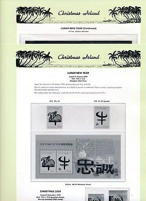 2009 Christmas Island Seven Seas Album Pages Used Good Condition NO STAMPS