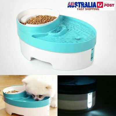 3 in 1 Automatic Pet Feeder Water Fountain Puppy Dog Food Bowl Dish Dispenser