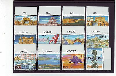 Malta - Sg905-916 Mnh 1991 National Heritage Of The Island Definitives
