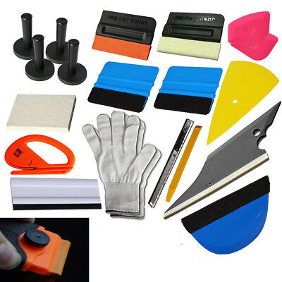 21Pcs Car Wrapping Installation Tools Squeegee Glove Magnet Pro-tint suede felt