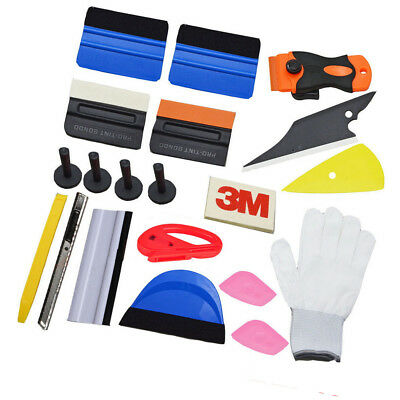 Kinds of squeegee Glove Magnet Vinyl Wrap Scraper Car Wrapping Tools Kit 21pcs