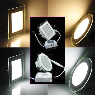 Dimmable 9W 15W 18W LED Recessed Ceiling Downlight Lamp Panel Light Kits 85-265V