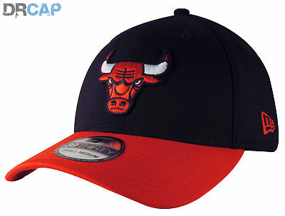 New Era NBA Chicago Bulls BlackBase 39Thirty Black / Red fitted Baseball Caps