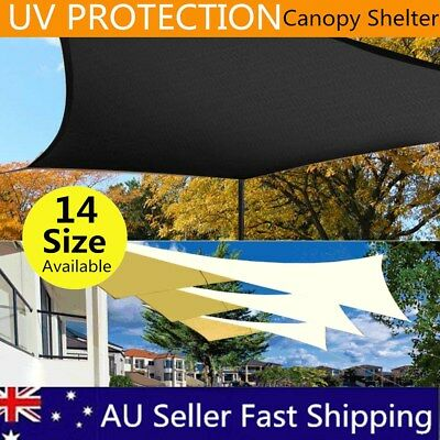 Extra Heavy Duty Shade Sail Sun Canopy Outdoor Triangle Square Rectangle AU