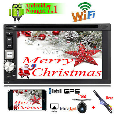 "Android 7.1 4 Core 2Din 6.2"" Car GPS Stereo DVD Player 4G WIFI Radio+Dual Camera"