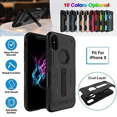 Tough Shockproof Armor Hybrid Protective Case W/ Stand For Apple iPhone X/8/Plus