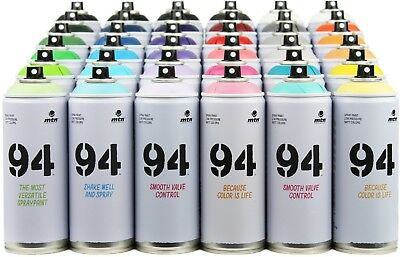 MTN 94 Spray Paint - 36 Pack - Aerosol Art Spray Paint Cans - 400ml