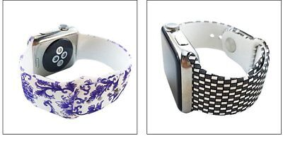Pattern Silicone Wrist Bracelet Sport Band Strap For Apple Watch 42mm 38mm 42 38