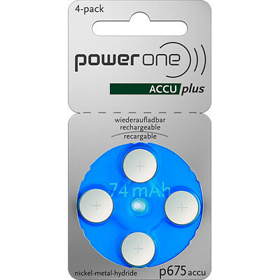 Pile auditive rechargeable 675A power one 1.2V 60mAh  - Blister(s) x 4