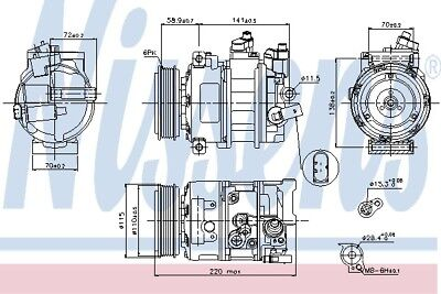 VW VENTO 162, 163 Air Con Compressor 1.4 2.0D 2014 on AC Conditioning 1K0820859S