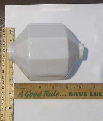Antique Lightning Rod Ball Globe  White Milk Glass 10 Sided D&S Patent Pending