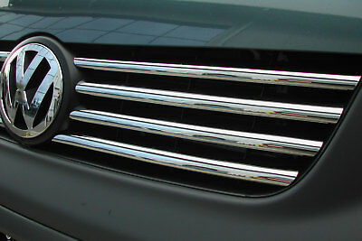 VW T5 Transporter  Mk1 -09 Front 8 Piece Stainless  Grill Styling Kit