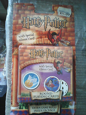 Harry Potter Round Playing Cards Brand New Old Stock.