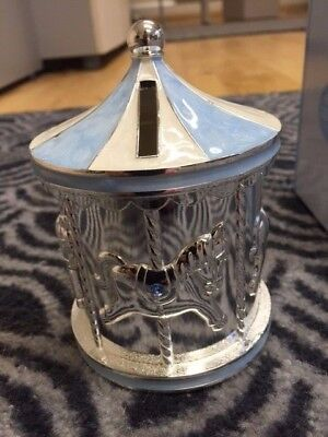 Silver Plated Carousel Money Box - Rocking Horse
