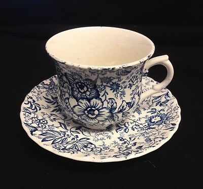 Vintage James Kent Old Foley Tea Cup & Saucer 18th Century Chintz