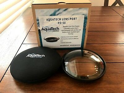 AquaTechP-Series PD-50 Dome Port for Nikon 16mm f/2.8 or 10.5mm f/2.8 Lens