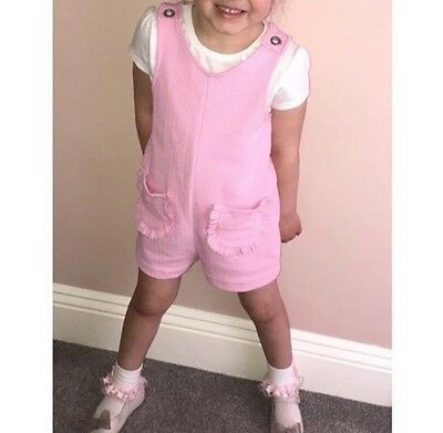 Zara Girls Pink Playsuit Age 5 years GREAT CONDITION