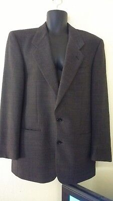 Yves Saint Laurent Suit Jacket 42 L32 two button 100% Worsted Wool