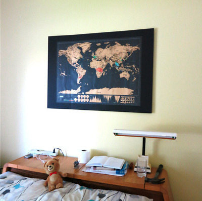 Special price ! Scratch off WORLD MAP poster wall travel - Vintage MEDIUM SIZE