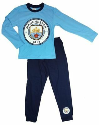 Manchester City FC Official  Boys Pyjamas Pjs Nightwear Gift Ages 4 to 12 years