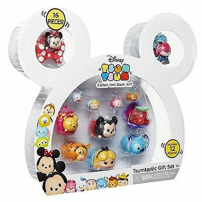 Tsum Tsum Disney Mickey Case 12 Collectable Figures Set Pack