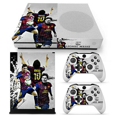 Collection Here Xbox One Slim Console Skin Sun Lionel Messi Fcb Vinyl Skin Decal Covers Stickers Video Game Accessories