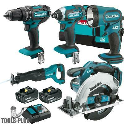 Makita XT505 18-Volt 5-Tool 3.0Ah Lithium-Ion Cordless Power Tool Combo Kit New