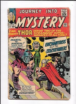 Journey Into Mystery #103 ==> Fa/gd 1St Appearance Of The Enchantress 1964