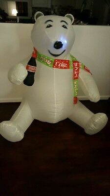 Christmas Air Blown Inflateable Coca-Cola Bear. Free Shipping!!