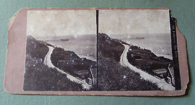 Stereoview_Folkstone The Lees_Kent_England_ XIX c.