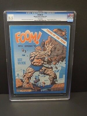 Foom Friends Of Ol' Marvel #5 1974 Cgc 8.5 White Pages Magazine Thing Cover