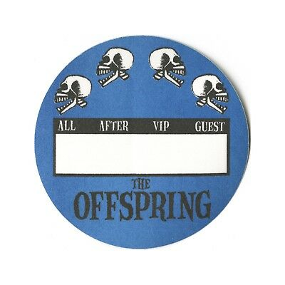 The Offspring authentic concert tour satin Backstage Pass All Access blue