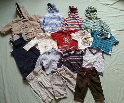 Boys 0-3 months large bundle - trousers, tops, dungarees, coat etc - Free P&P!