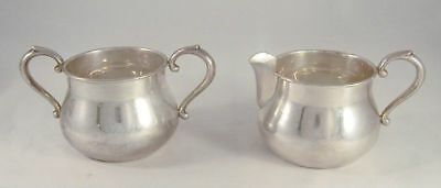Vintage Massachusetts Towle 770 Sterling Silver Creamer & Sugar Applied Handles