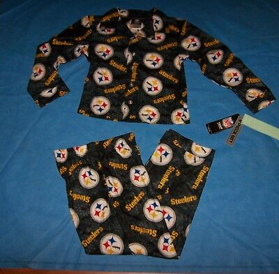 Size S 6/7  Boy/Girl Youth Sleepwear  Pajama Set 2 pc. Pittsburgh Steelers  NFL