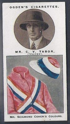 Ogdens-Steeplechase Trainers & Owners Horse Racing Colours-#42- Tabor