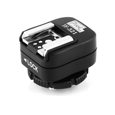 Pixel e-TTL Flash Hot Shoe Adapter with Extra PC Sync Port for DSLRs and Flashgu