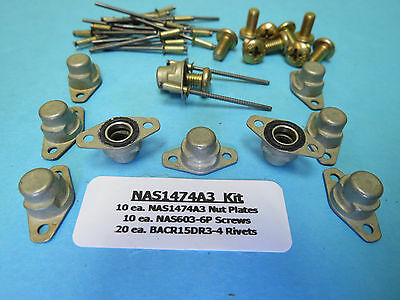NAS1033A3 Nutplates Right Angle #10-32 Cessna Aircraft Hardware 4